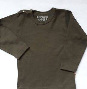 Babyshirt Wooden Button legergroen